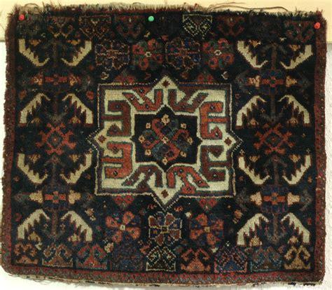endless knot rugs antique khamseh khorjin fragment with endless knot 19th c