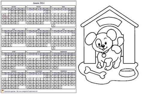 Calendrier Annuel 2014 Calendrier 2014 224 Colorier Annuel Format Paysage Pour