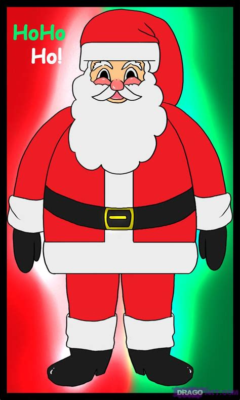 best drawi g of santa clause with chrisamas tree how to draw santa clause santa santa claus nick step by step stuff