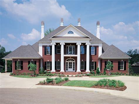 luxury southern plantation home house plan