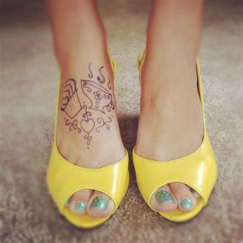 henna tattoo yellow cupcake and coffee tattoo also adorable yellow shoes