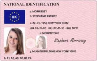 Uk Id Card Template National Id Card Type 1