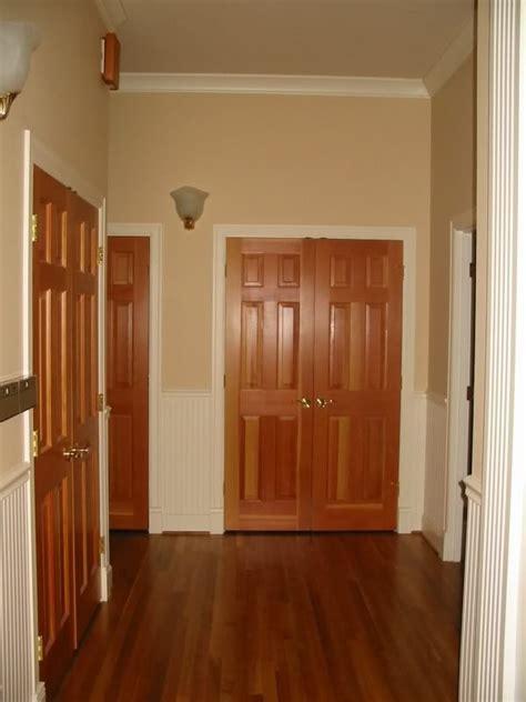 interior doors    trim painted white