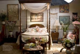 Louisiana Home Decor Impressive Wooden Canopy Bed Installed At Contemporary Bedroom That Decorated Using Bohemian