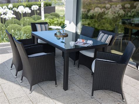 patio dining sets for 6 wicker patio dining set for 6 italy beliani