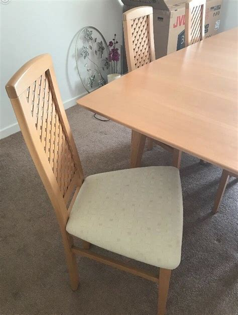 large dining room table extends  chairs  side board