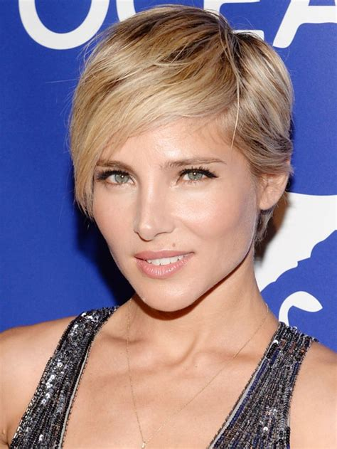 hair styles for big and high cheek bone elsa pataky has the best short haircut i ve ever seen