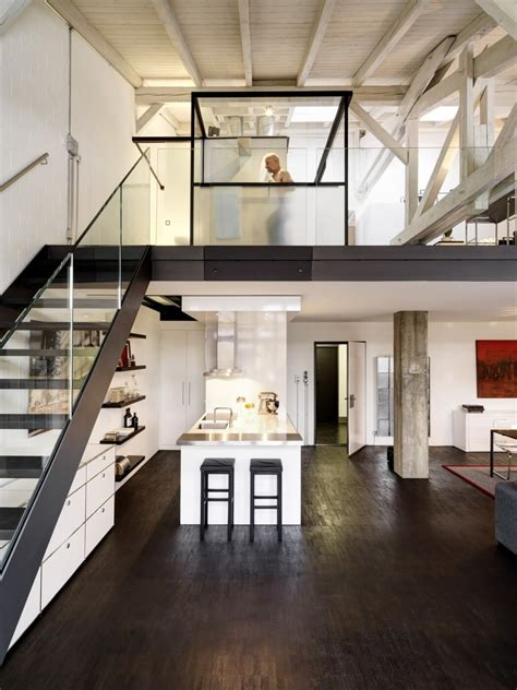 Industrial Apartment by Industrial Apartment In Zurich Gets A Fresh Contemporary