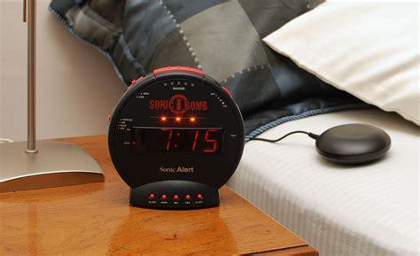 sonic bomb alarm clock  bed shaker black alarm clocks hearmorecom