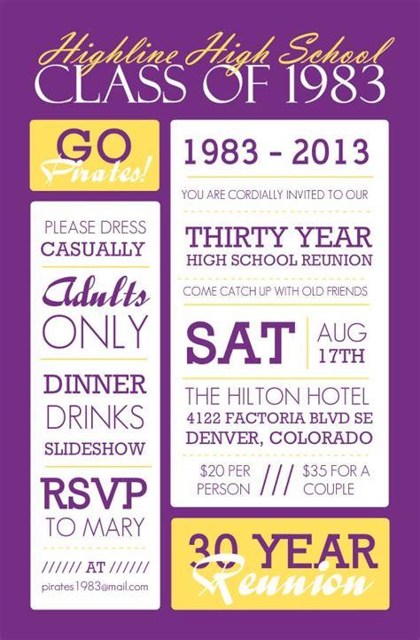 reunion invitation card templates 25 best ideas about class reunion invitations on