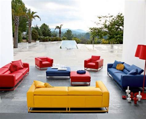 blue and yellow sofa cheerful and modern sofas design inspirations furniture