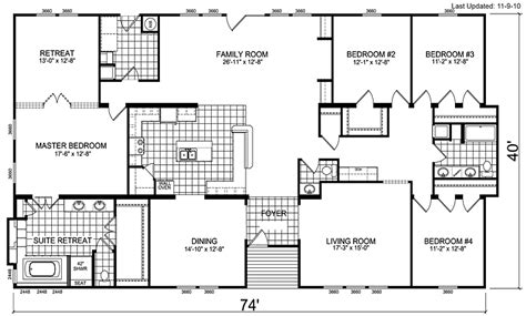 triple wide manufactured homes floor plans triple wide mobile homes architecture manufactured home