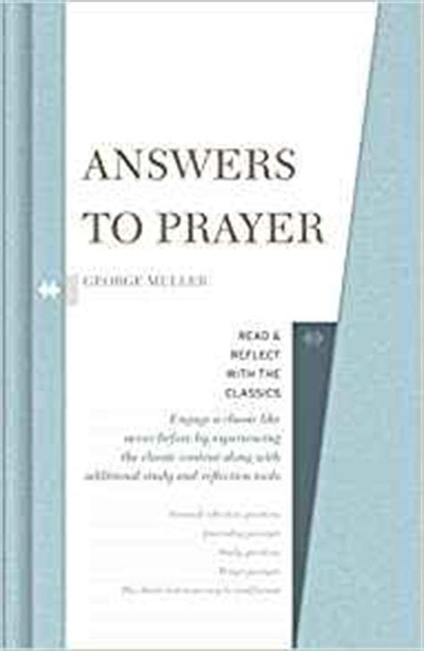 answers to prayer books answers to prayer read and reflect with the classics
