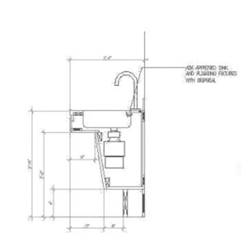 Used Kitchen Cabinets Ct by How To Put A Disposal In An Ada Sink 171 Abadi Access