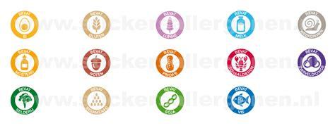 Kaos Note Note 23 Bv rol dagstickers allergenen stickers