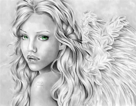 drawn elfen pretty angel pencil and in color drawn elfen