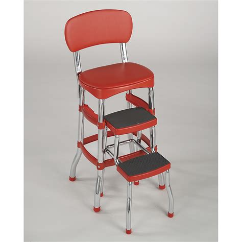 Step Stool Chair by Cosco Home And Office Products 11120red1e Retro Counter