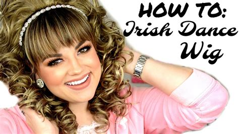 how to put on a irish dance wig french braids how to put on an irish dance wig emerald key kinsey wig