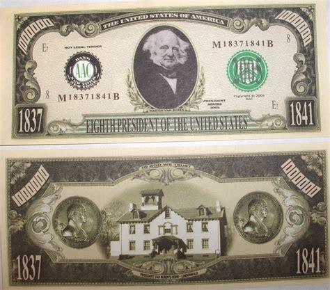 A Million Dollar by Martin Buren One Million Dollar Bill Fakemillions