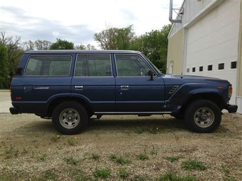 1983 Toyota Land Cruiser Sell Used 1983 Toyota Land Cruiser Fj60 Blue W Gray