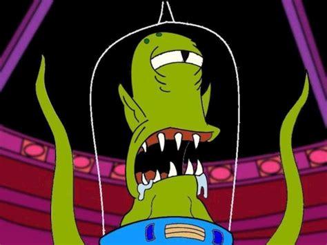 wallpaper cartoon alien my free wallpapers cartoons wallpaper simpsons alien