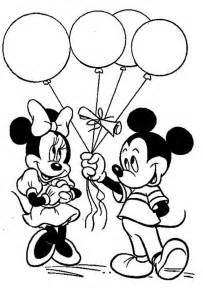 free coloring pages minnie mouse birthday