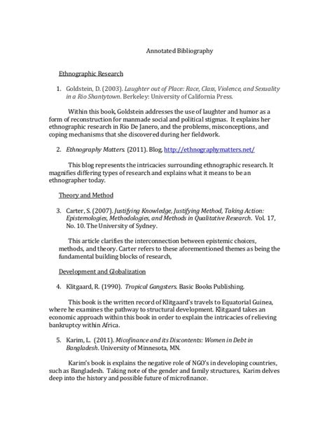 Research Paper Annotated Bibliography by Annotated Bibliography