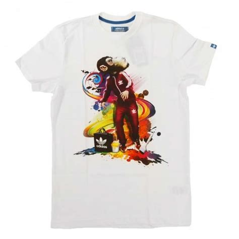 T Shirt Monkey Imlek K9t3 adidas originals monkey t shirt white mens clothing from attic clothing uk