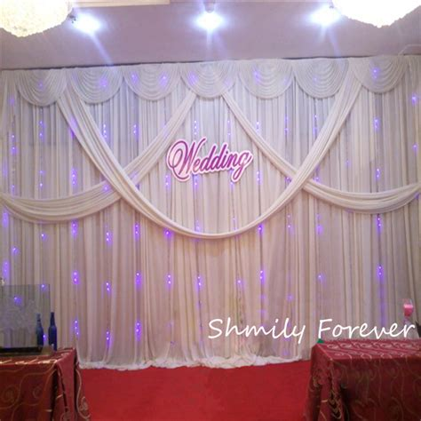 curtain backdrops for weddings new arrival 3x6m 10ft by 20ft custom made wedding