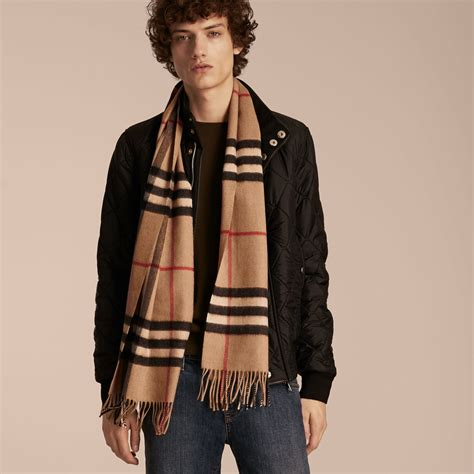 the classic check scarf in camel burberry canada