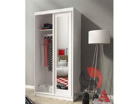 ALASKA 100 cm  white   Sliding door wardrobe with mirror