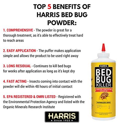 powder to kill bed bugs harris bed bug killer diatomaceous earth powder 1 2 lb