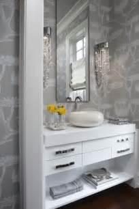 Grey Powder Room Glamour Grey White Powder Room Creativnest