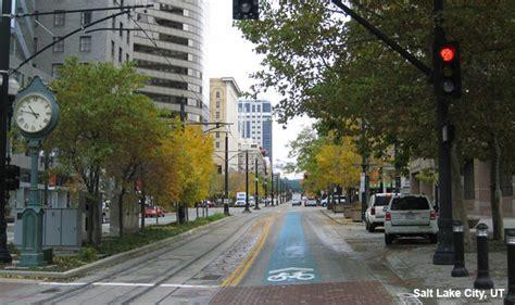 green shared lane  south street salt lake city ut national association  city