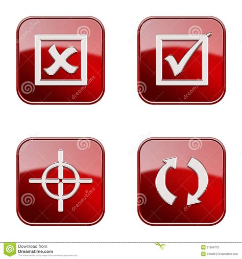 Target Background Check Set Icon Glossy 22 Royalty Free Stock Photo Image