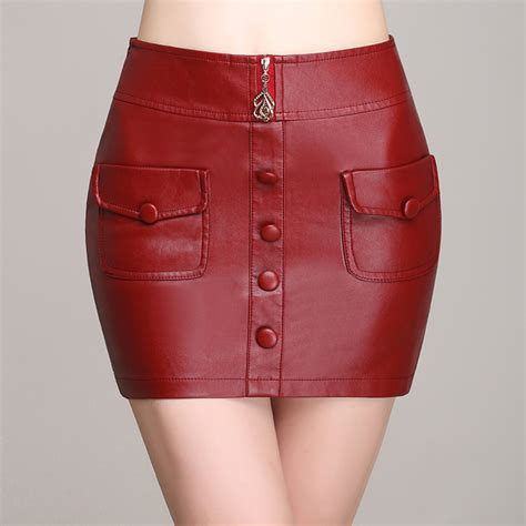 leather skirt hips pu leather kilt skirts 2016 new slim