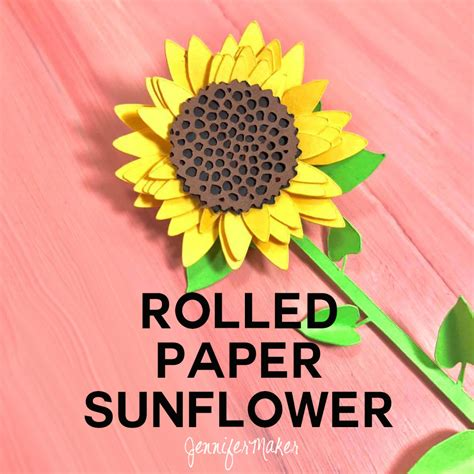How To Make Sunflower From Paper - how to make a simple rolled paper sunflower maker