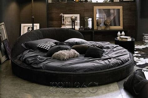 round leather bed round bed d home pinterest