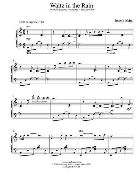 Wedding Bells Prine Chords by Waltz In The Piano Sheet From Joseph Akins