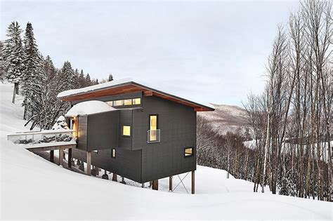 ski chalet house plans laurentian ski chalet weekend retreat located on the steep slope of a former ski hill