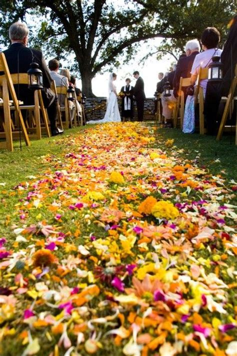 Wedding Aisle With Leaves by Aisle Of Leaves Wedding Runners Fall