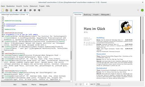 Lebenslauf Vorlage Ubuntu Bewerbungen Und Lebensl 228 Ufe Mit Und Moderncv Gestalten Linux Und Ich