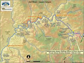 map of arizona rivers salt river map arizona whitewater rafting