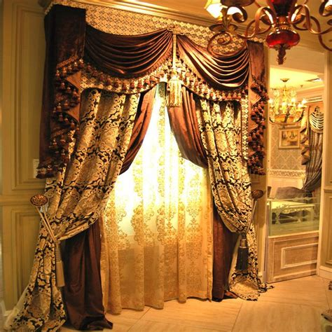 luxury drapery luxury jacquard drapes multi layer drapes pinterest
