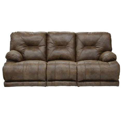lay flat recliner sofa catnapper voyager power lay flat reclining sofa in elk