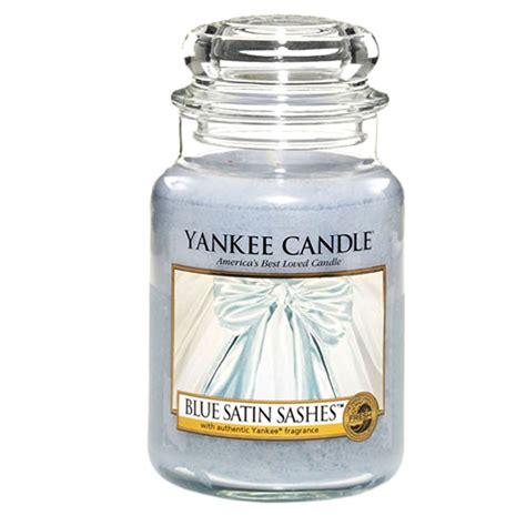 yankee candele blue satin sashes yankee candle yankee candles