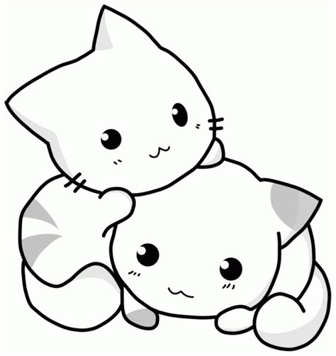 kawaii cat coloring pages blogginess embroidery patterns