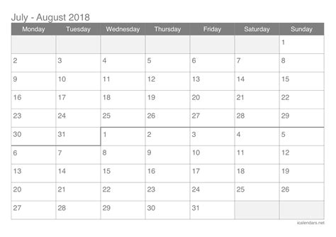 18 month calendar for writers july 2018 december 2019 books july and august 2018 printable calendar icalendars net