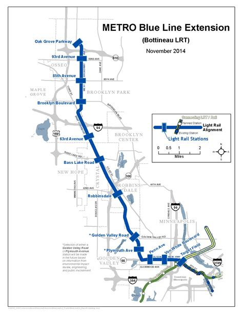 blue line metro map city of golden valley mn metro blue line extension map large