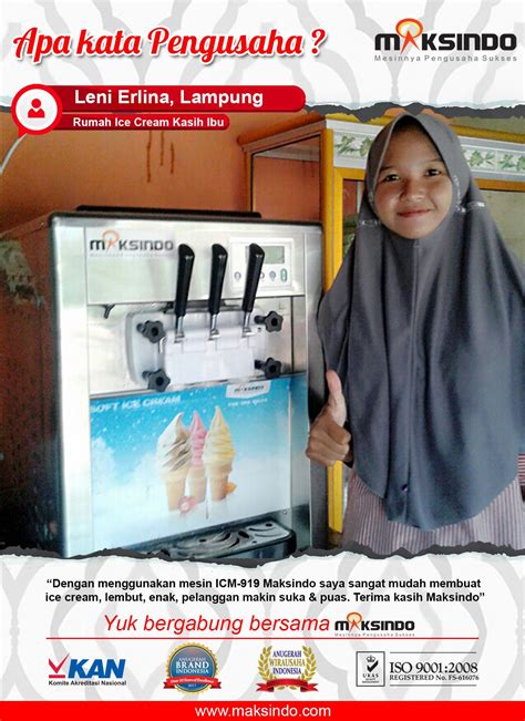 membuat ice cream untuk usaha rumah ice cream kasih ibu mesin icm 919 mudah untuk